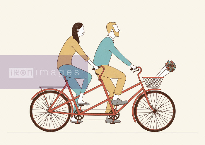 Robbie Porter - Couple riding tandem bicycle