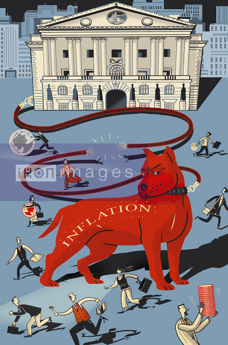 Red inflation hound frightening people - Red inflation hound frightening people - Ian Whadcock
