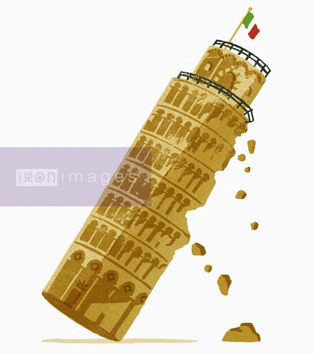 Daniel Haskett - Leaning Tower of Pisa falling down