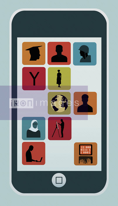Smartphone display with different career apps - Smartphone display with different career apps - Nick Lowndes