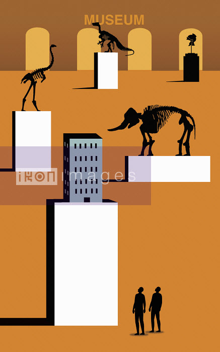 Museum of natural history with extinct species and office building - Museum of natural history with extinct species and office building - Nick Lowndes