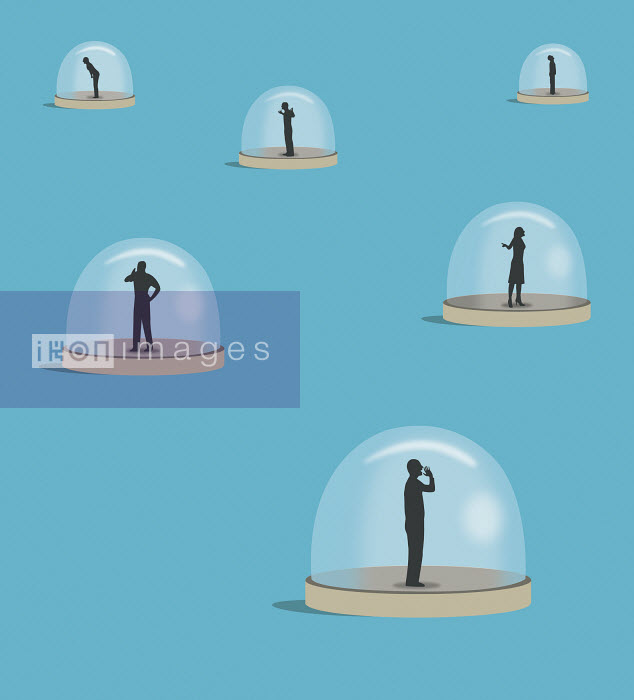 People shouting under glass domes - People shouting under glass domes - Nick Lowndes