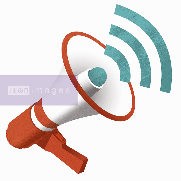 Bullhorn with wifi symbol - Bullhorn with wifi symbol - Taylor Callery
