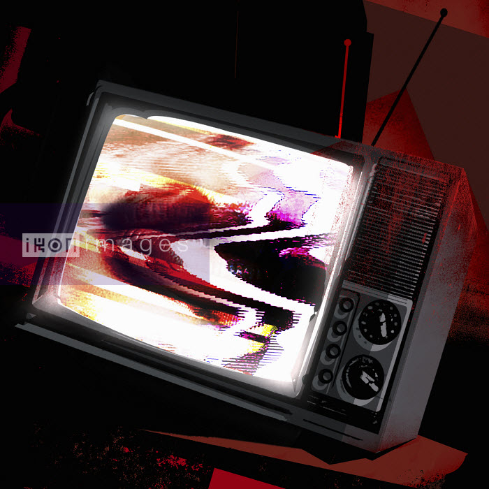 Malfunction on old tv screen - Malfunction on old tv screen - Taylor Callery