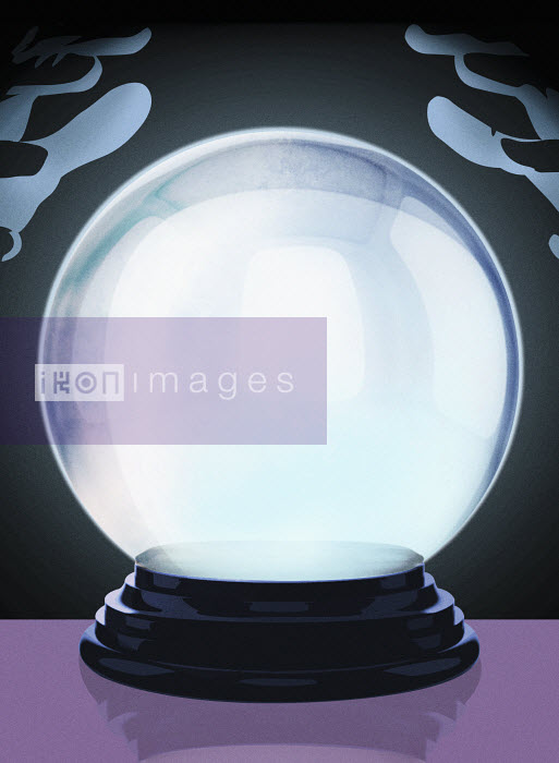 Hands above glowing crystal ball - Hands above glowing crystal ball - Taylor Callery