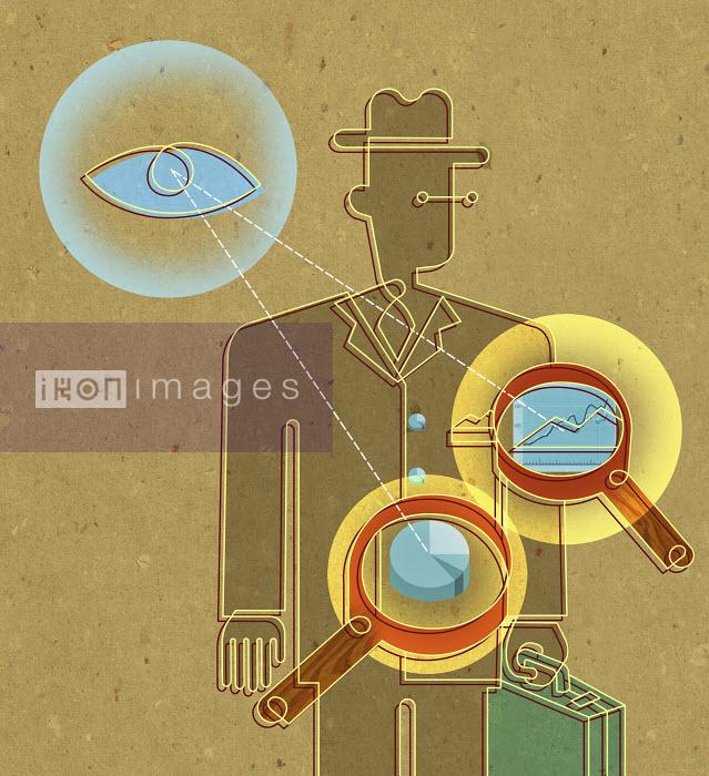 Eye monitoring businessman - Eye monitoring businessman - Otto Steininger