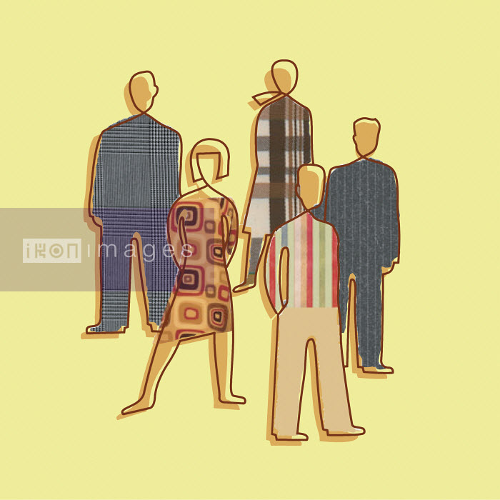 Silhouettes of people wearing different patterns - Silhouettes of people wearing different patterns - Otto Steininger