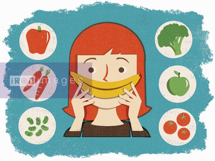 Woman with healthy food - Woman with healthy food - Adam Howling