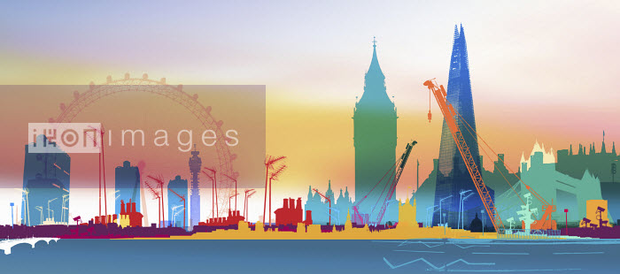 Skyline of London with famous landmarks - Skyline of London with famous landmarks - Chris Keegan