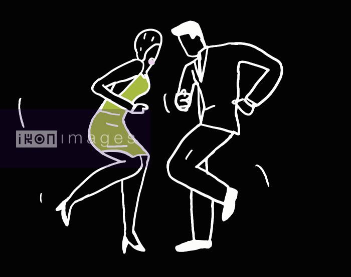 Outline of dancing couple - Outline of dancing couple - Huntley Muir