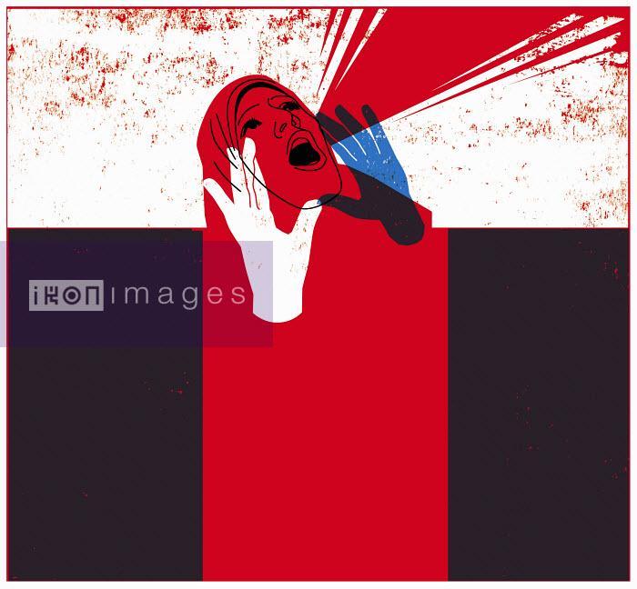 Woman in Hijab screaming - Woman in Hijab screaming - Otto Dettmer