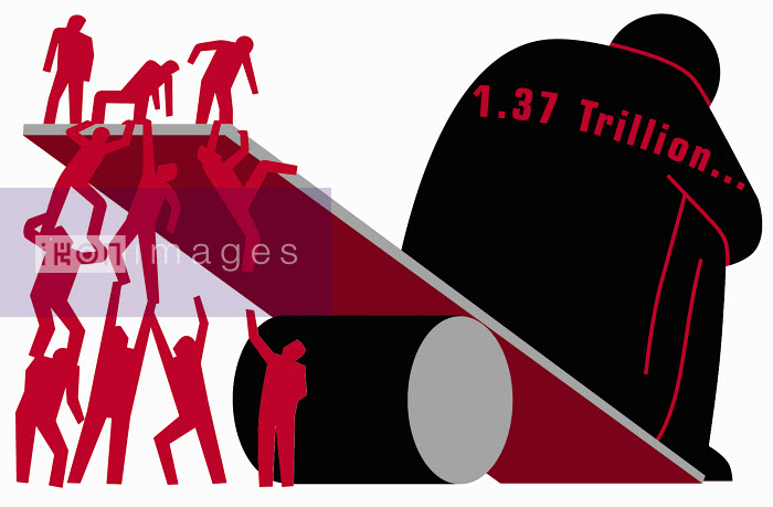 Imbalanced seesaw - Imbalanced debt seesaw - Otto Dettmer