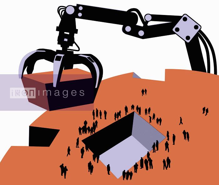 Excavator taking piece from ground - Excavator taking piece from ground - Otto Dettmer