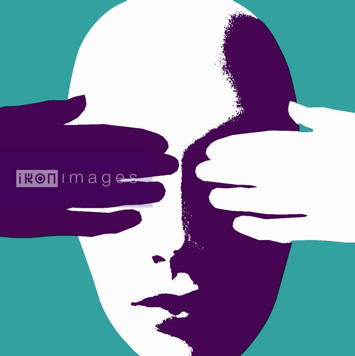Woman covering her eyes - Woman covering her eyes - Otto Dettmer