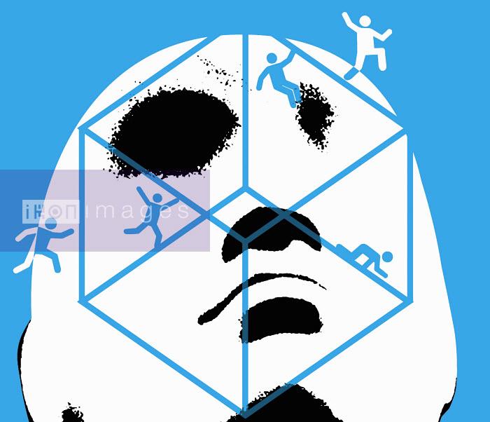 Face and figures on cube - Face and figures on cube - Otto Dettmer