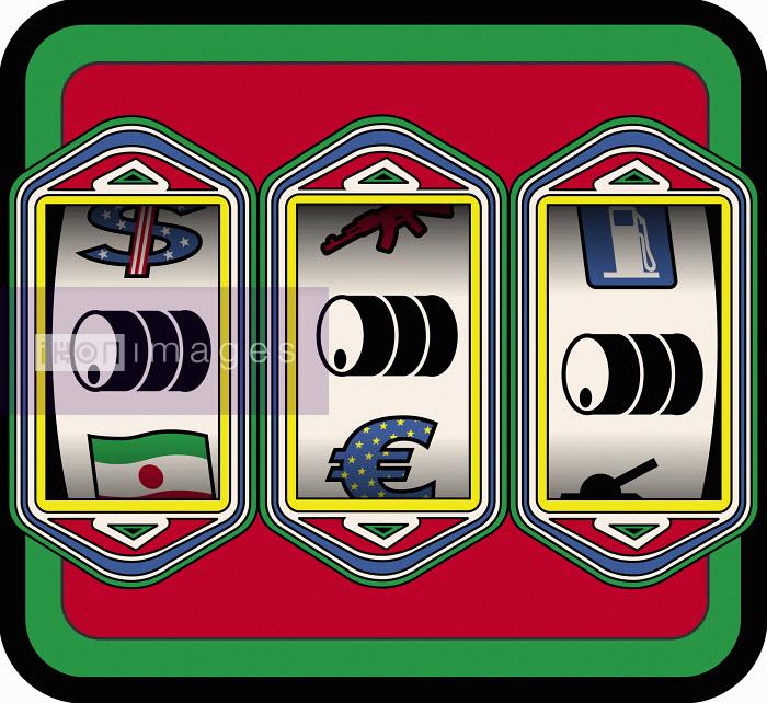 Oil barrels on slot machine - Oil barrels on slot machine - Otto Dettmer