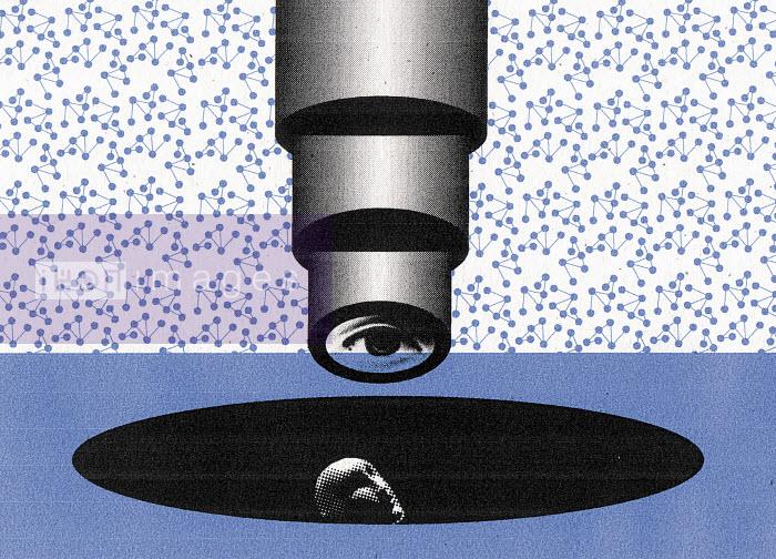 Person under a microscope - Person under a microscope - Otto Dettmer