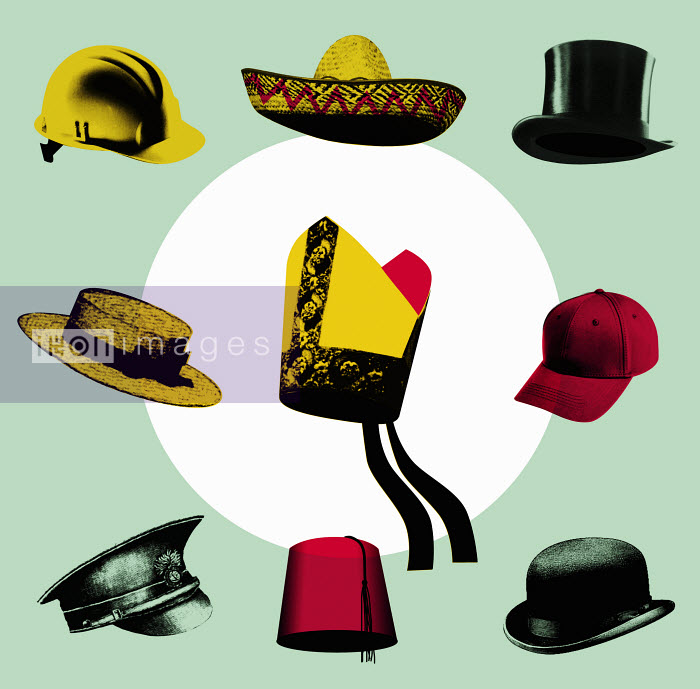 Variety of hats - Variety of hats - Otto Dettmer