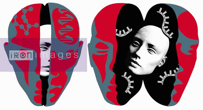 Two open heads - Two open heads - Otto Dettmer