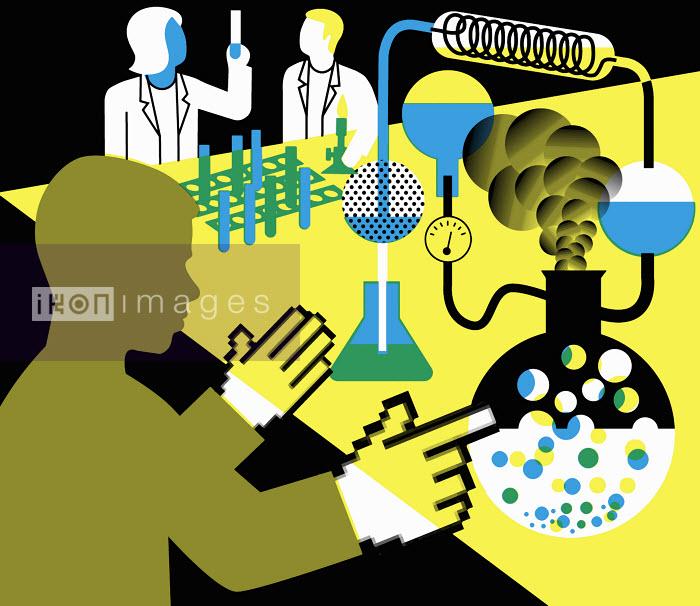 Scientists working in laboratory - Scientists working in laboratory - Otto Dettmer