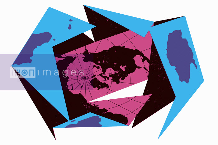 World map in pieces - World map in pieces - Otto Dettmer