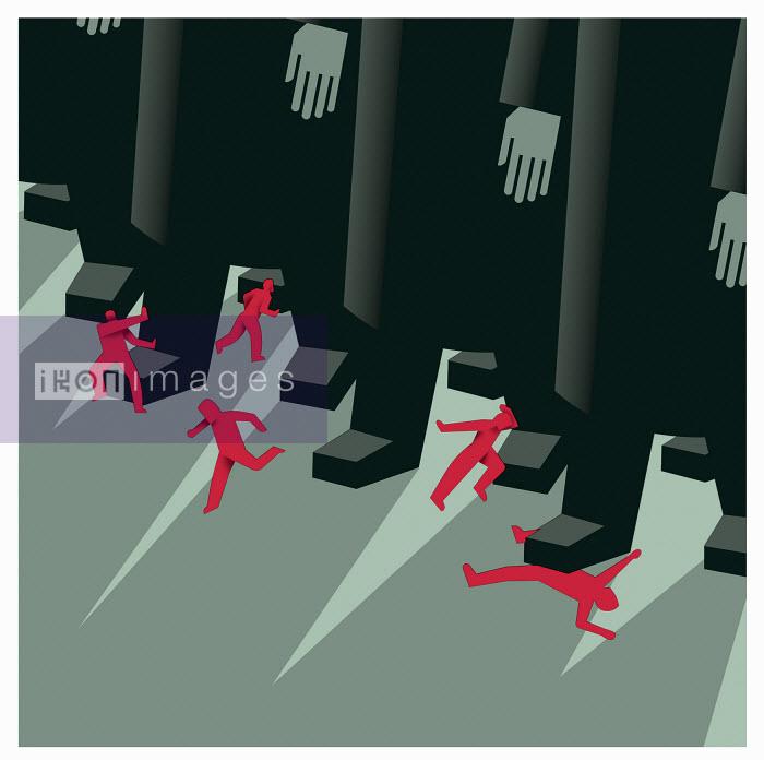 Small figures beneath large men - Small figures beneath large men - Otto Dettmer