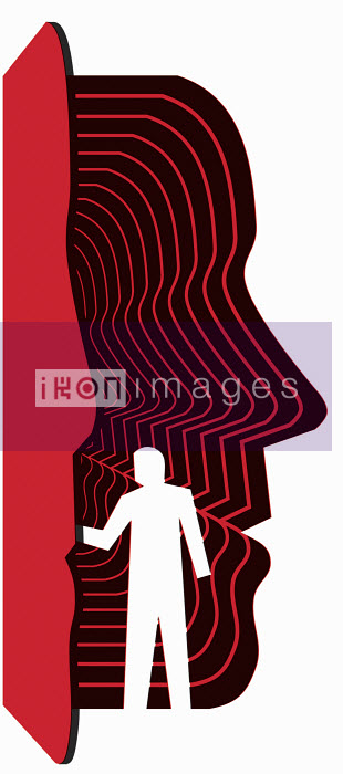 Figure looking into man's head - Figure looking into man's head - Otto Dettmer