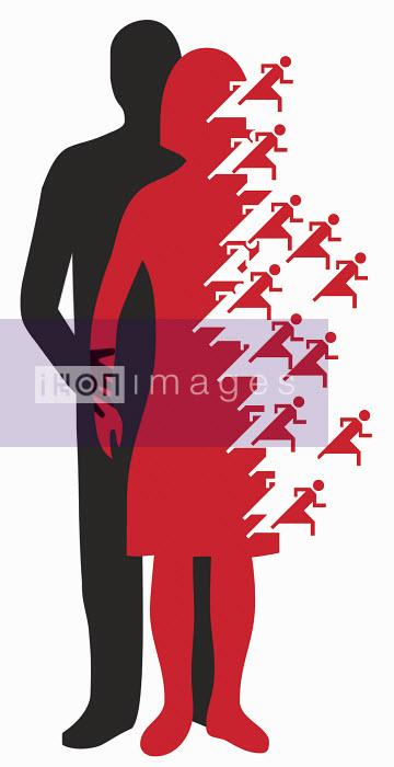 Man touching separating woman - Man touching separating woman - Otto Dettmer