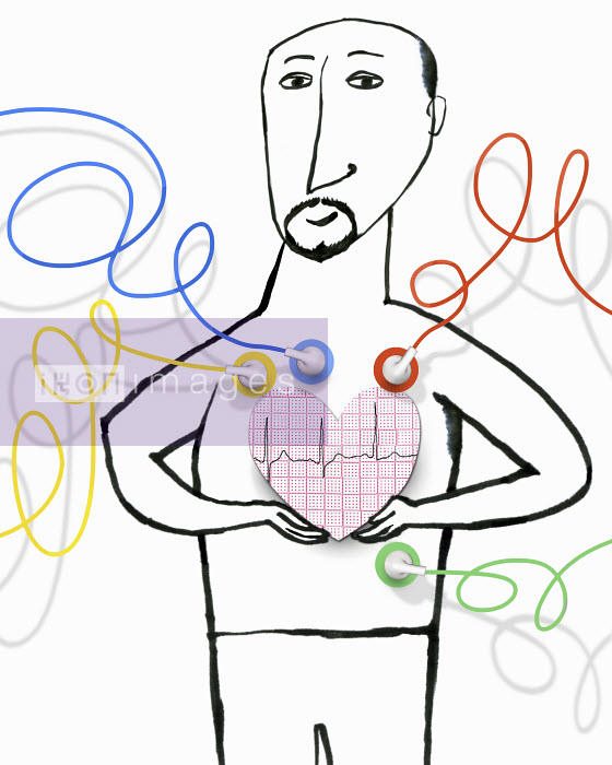 Man having an ECG examination - Man having an ECG examination - Roger Chouinard