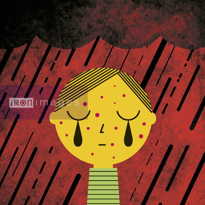 Boy crying in the rain - Boy crying in the rain - Verónica Grech