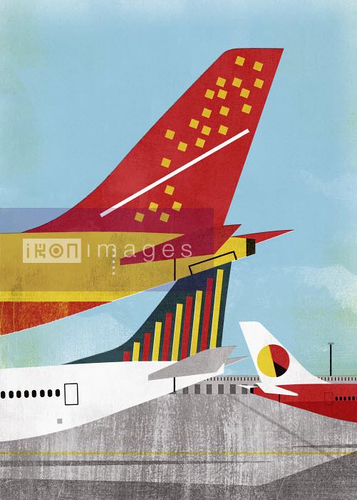 Rear wings of international airplanes - Rear wings of international airplanes - Mitch Blunt