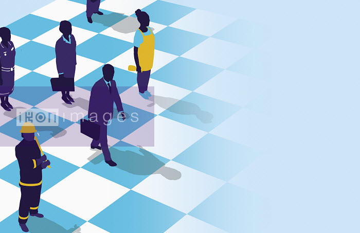 Business people on chess board - Business people on chess board - Neil Webb
