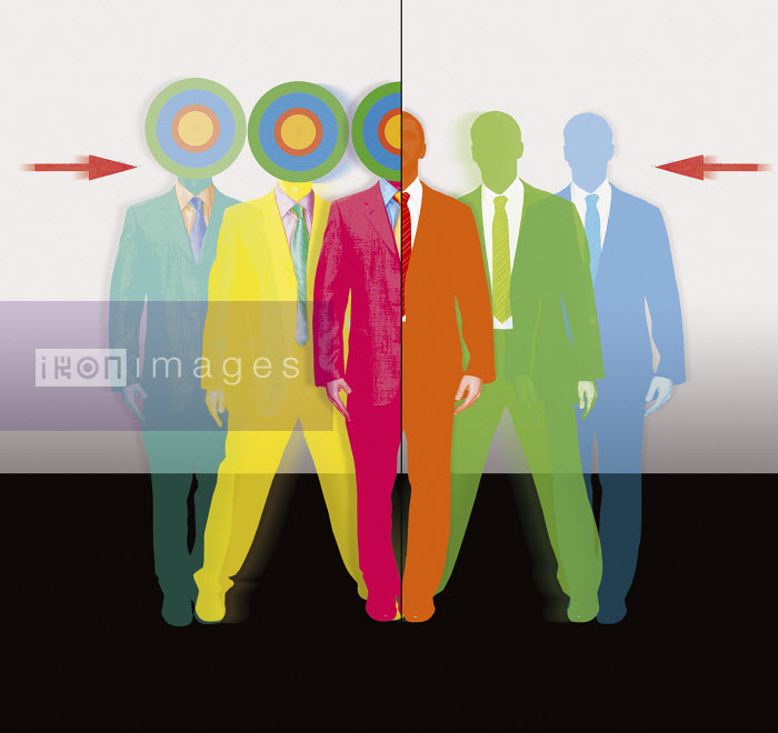 Businessmen with targets for heads - Businessmen with targets for heads - Matt Herring