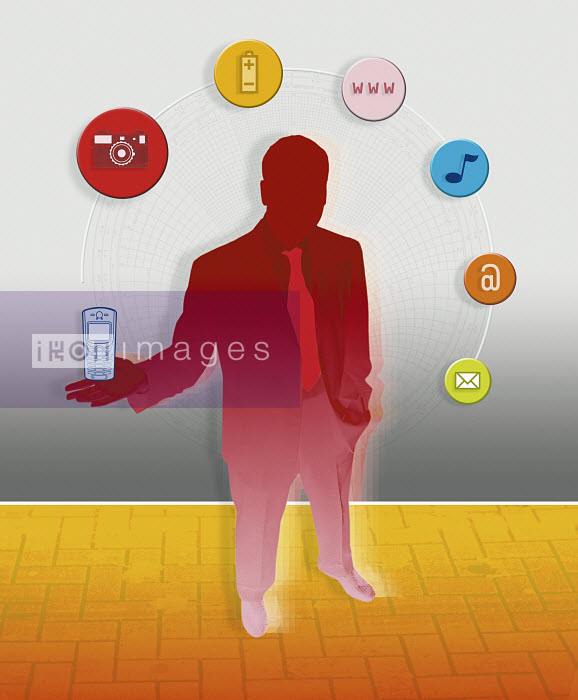 Businessman holding cell phone - Businessman holding cell phone - Matt Herring