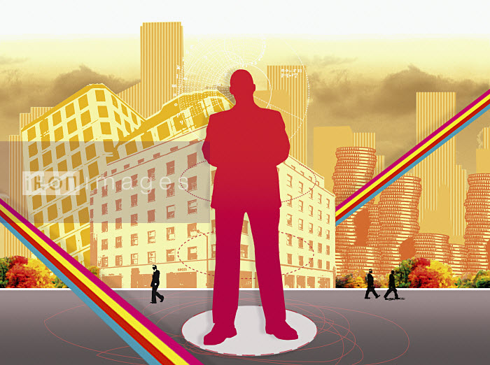 Businessman standing in urban street - Businessman standing in urban street - Matt Herring