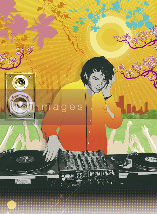 Male DJ playing music - Male DJ playing music - Matt Herring