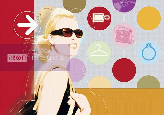 Smiling woman wearing sunglasses - Smiling woman wearing sunglasses - Matt Herring