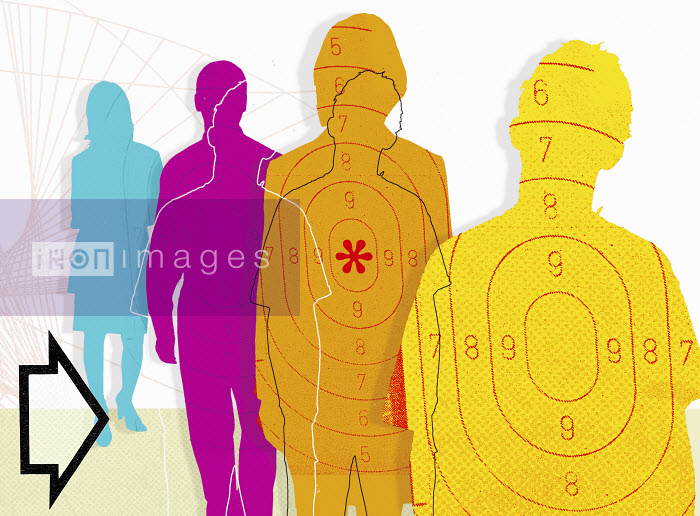 Multicolored people with targets - Multicolored people with targets - Matt Herring
