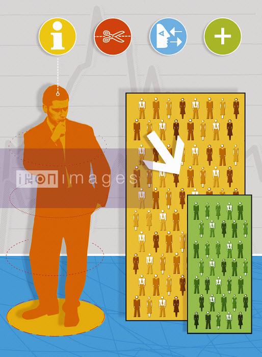Human resources manager viewing workforce chart - Human resources manager viewing workforce chart - Matt Herring