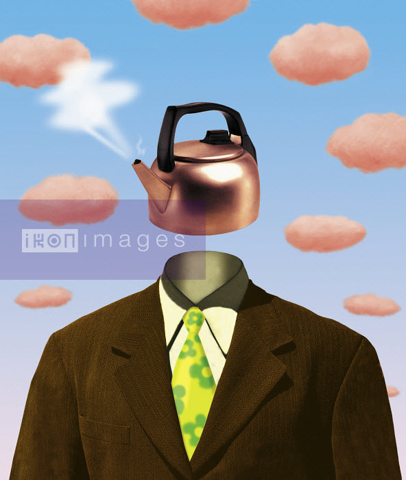 Businessman with water kettle as head - Businessman with water kettle as head - Gary Bates