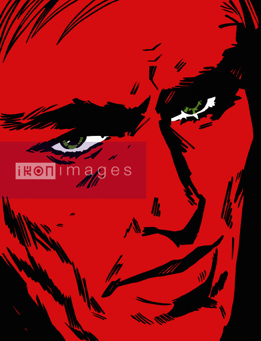 Close up of frowning man with red face - Close up of frowning man with red face - Jacquie Boyd