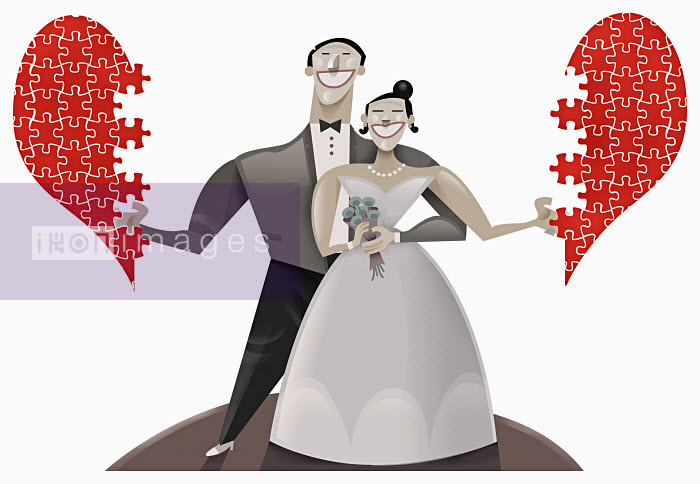 Pablo Blasberg - Bride and groom with puzzle heart