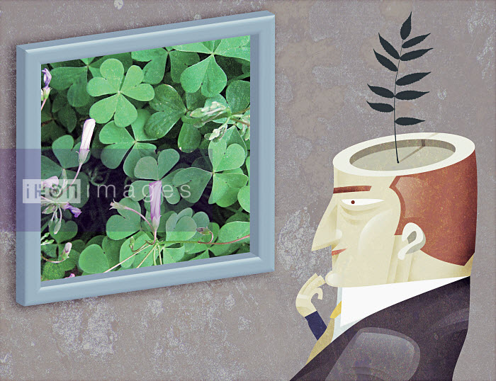 Man with plant growing from head - Man with plant growing from head - Pablo Blasberg