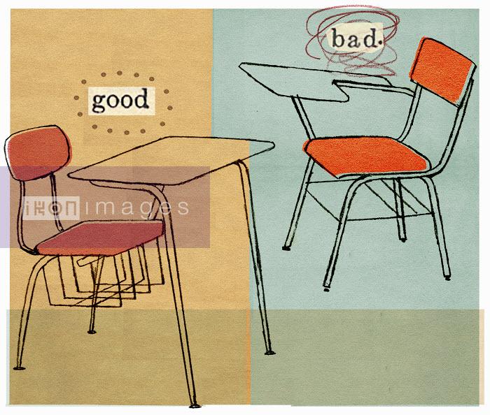 Good and bad student desk - Good and bad student desk - Donna Grethen