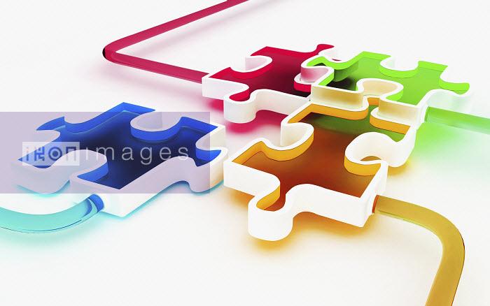 Colored puzzle pieces - Colored puzzle pieces - K3
