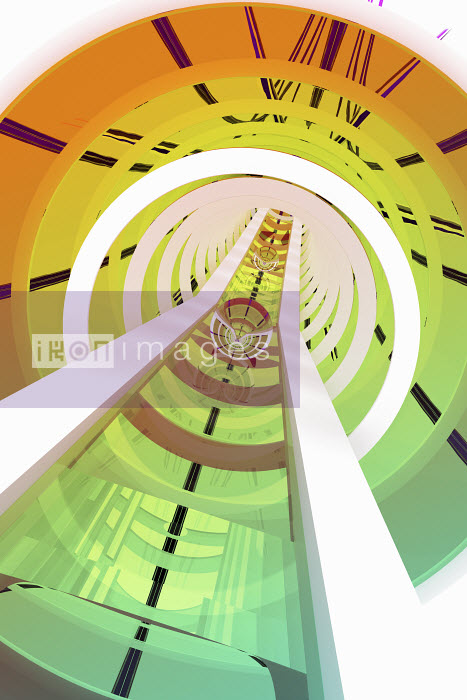 Rails in abstract tunnel - Rails in abstract tunnel - K3