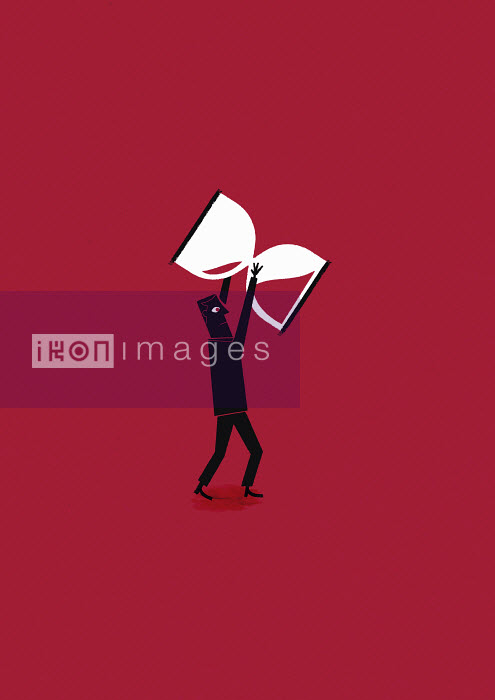 Businessman holding hourglass - Businessman holding hourglass - Ben Sanders
