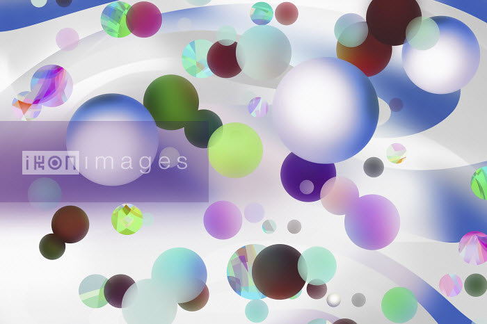 Lots of floating multi coloured spheres Vicky Vougiouka