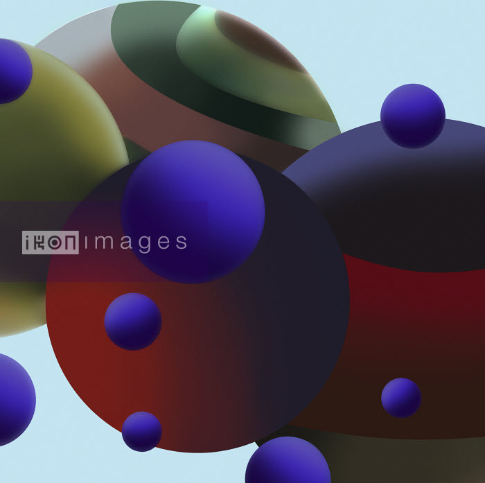 Dark spheres in close up abstract pattern Vicky Vougiouka