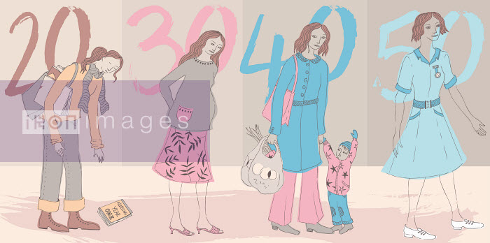 Trina Dalziel - Life stages of woman through the decades